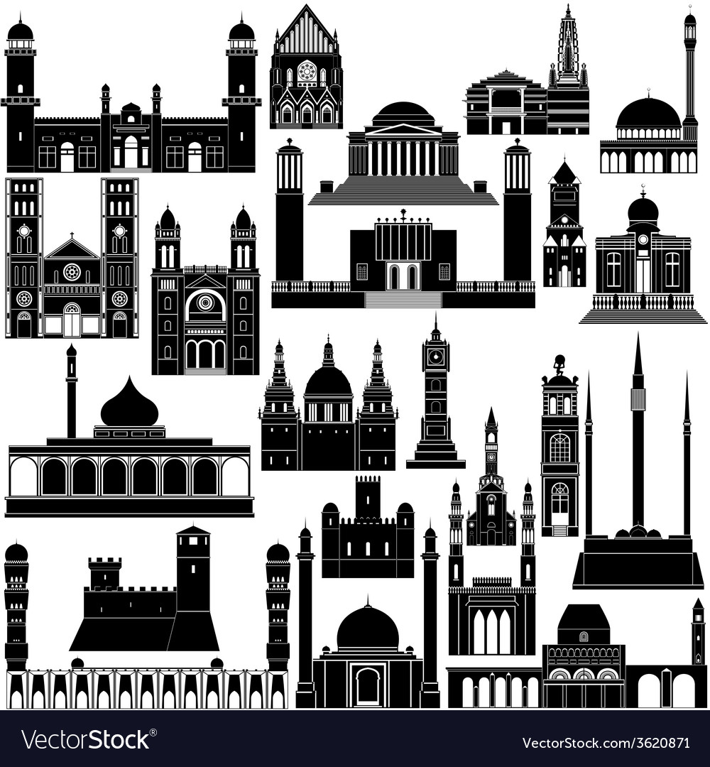 Architecture africa5 vector