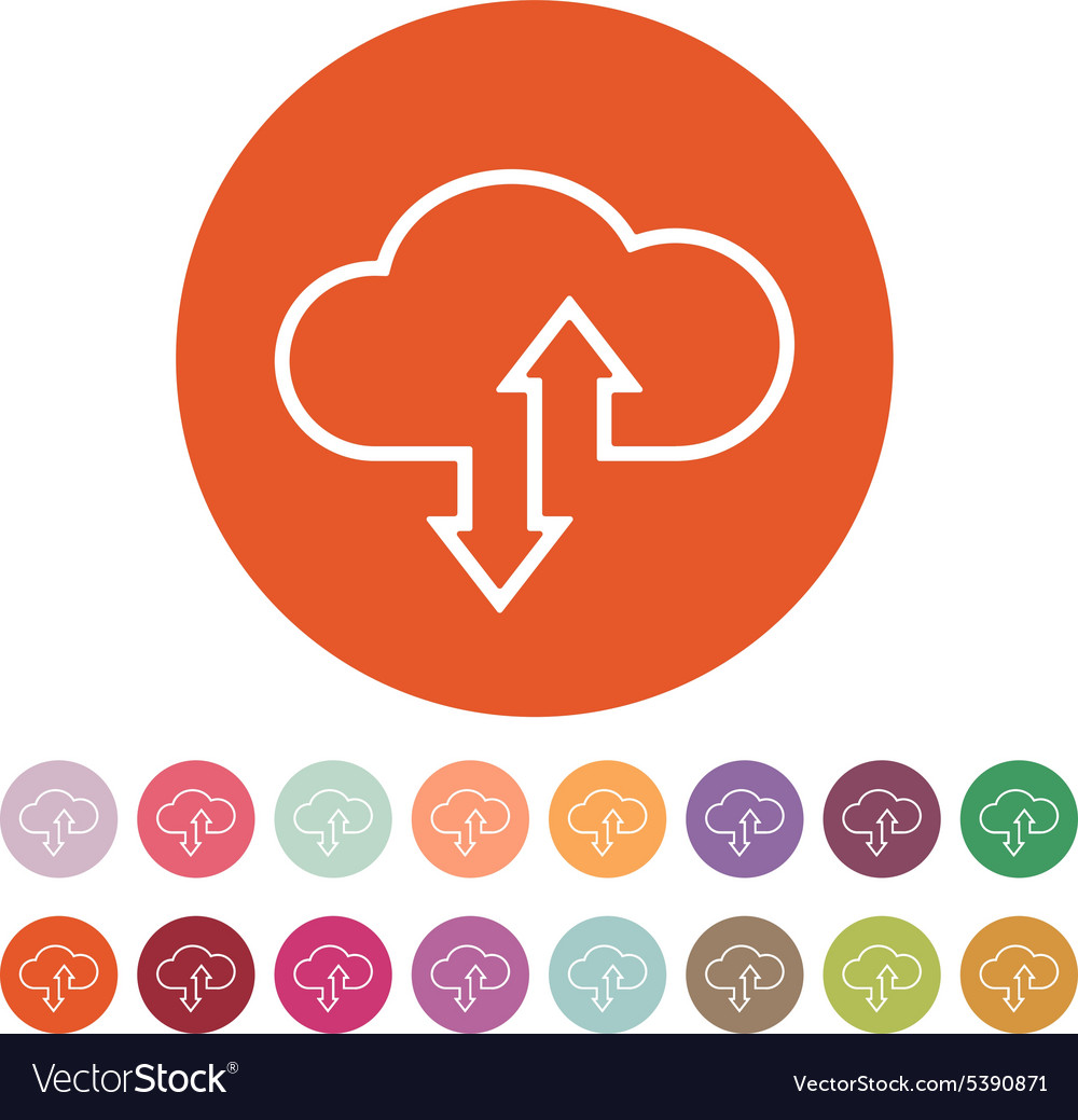 Download and upload to cloud icon vector