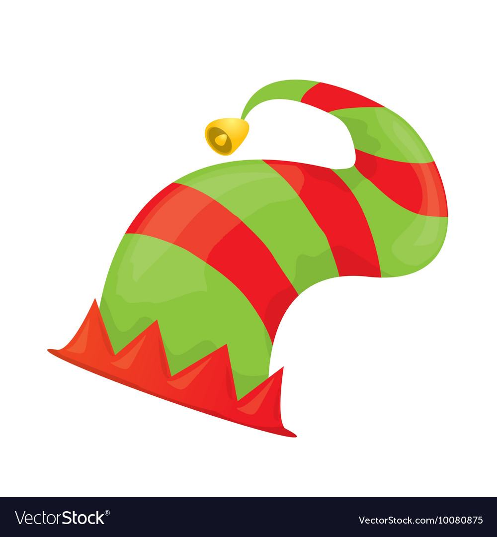 Christmas elf hat vector