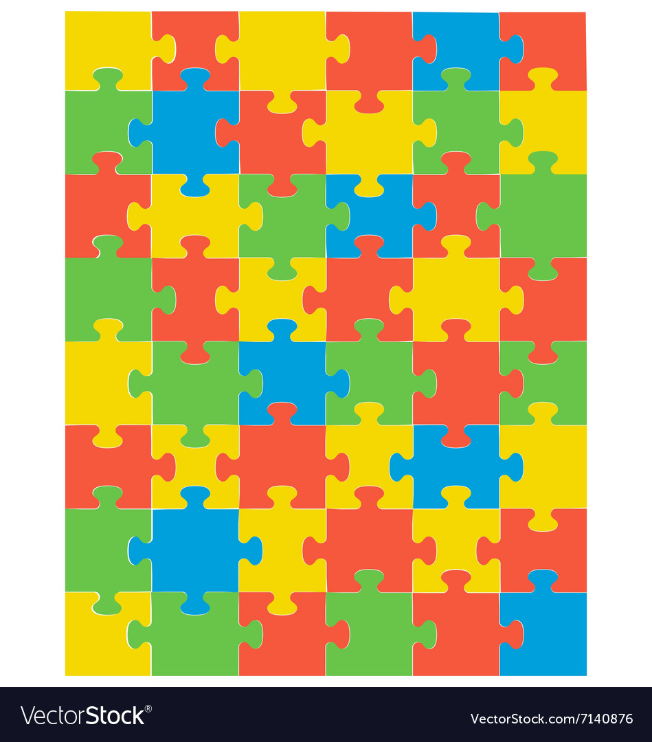 Colorful puzzle vector