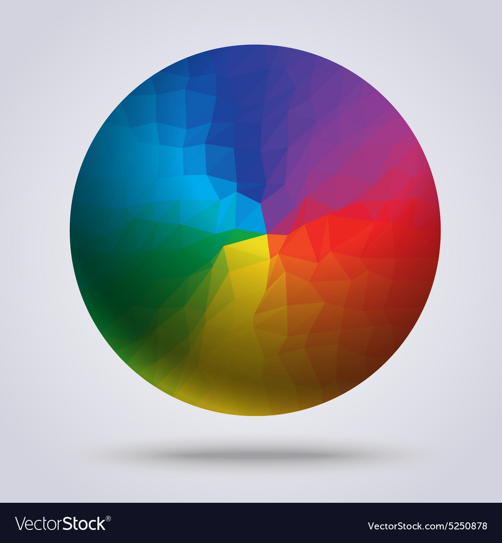 Multi color of circle vector