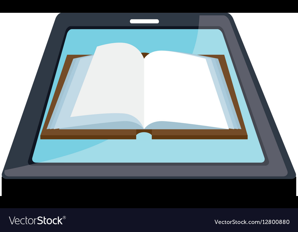 Electronic book technology icon vector