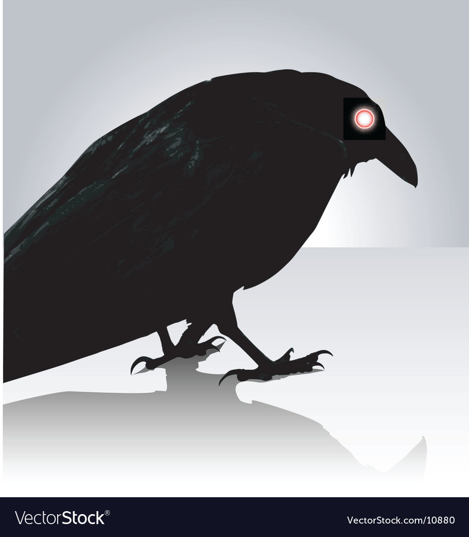Scary crow vector