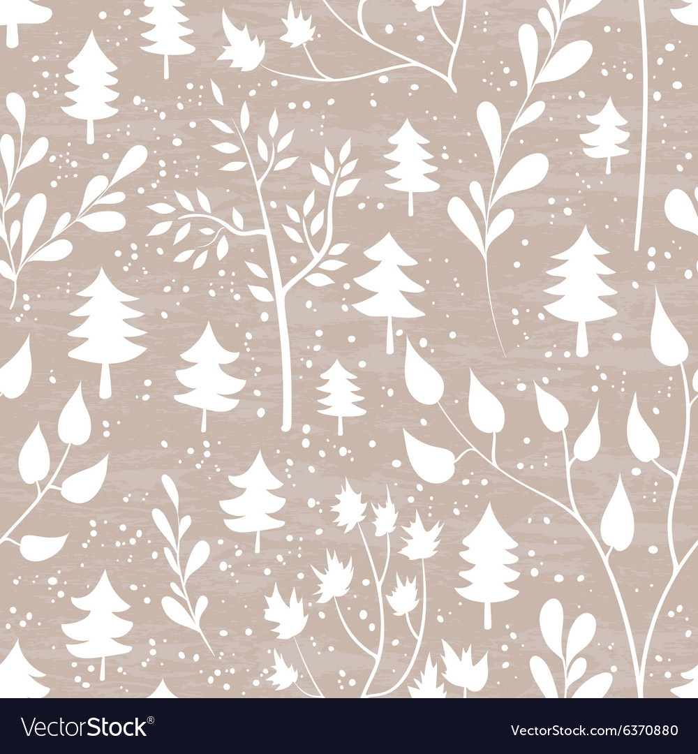 Winter forest seamless pattern vector