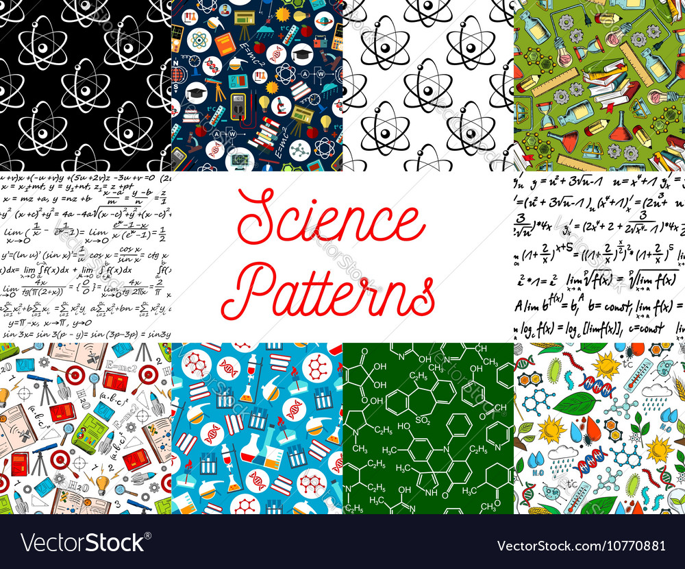 Science seamless pattern backgrounds vector