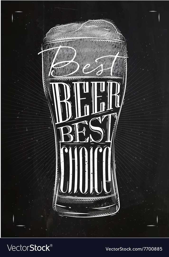 Poster best beer chalk vector