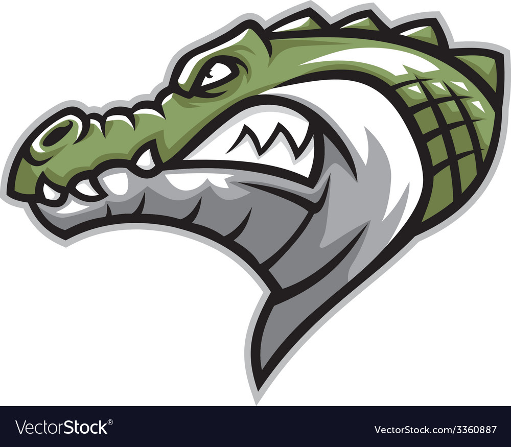 Crocodile head side vector