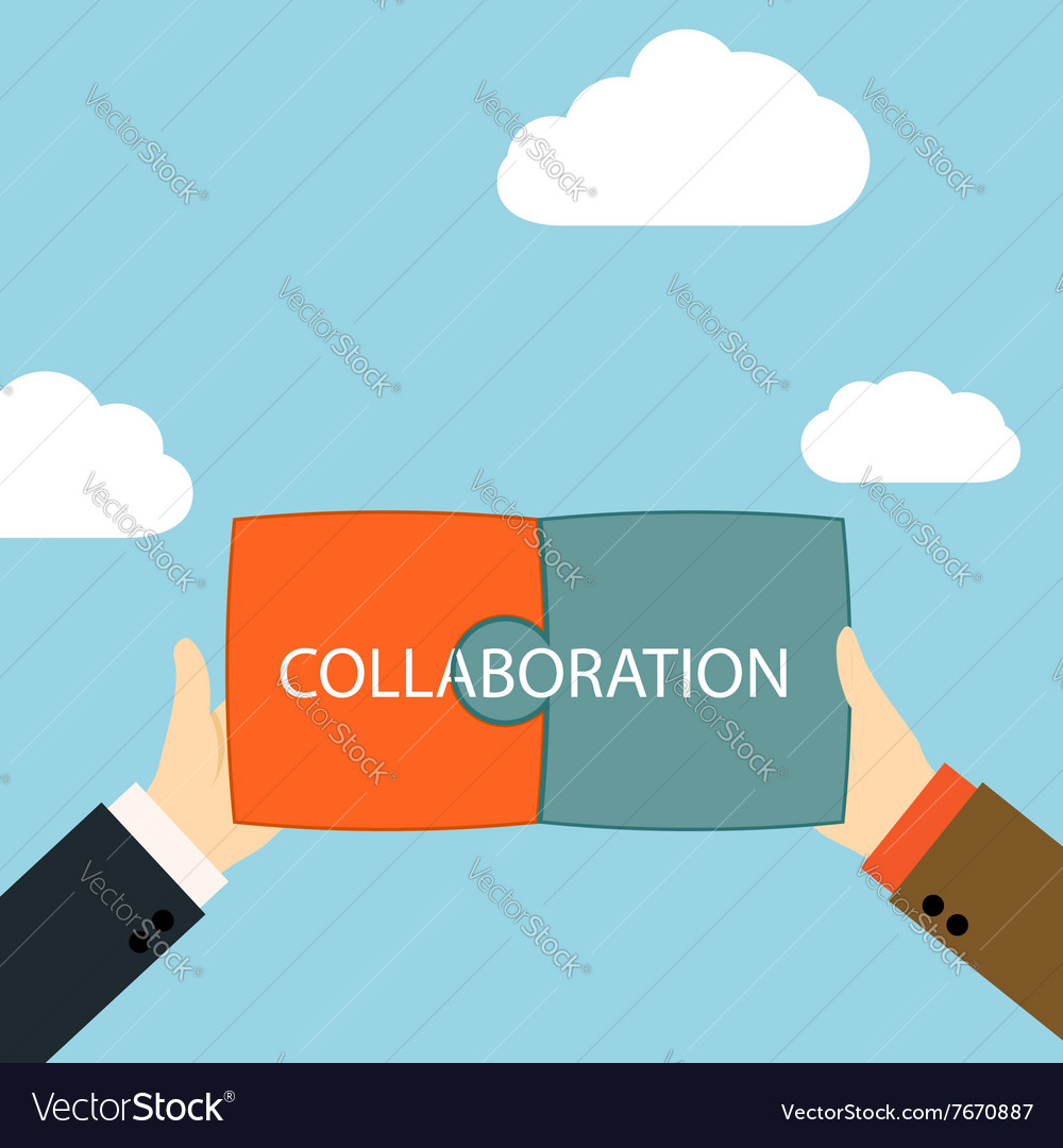 Symbol of business partnership vector