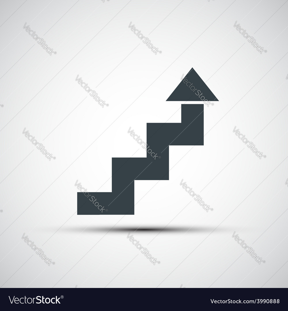 Icon of stairs in the form of arrows vector