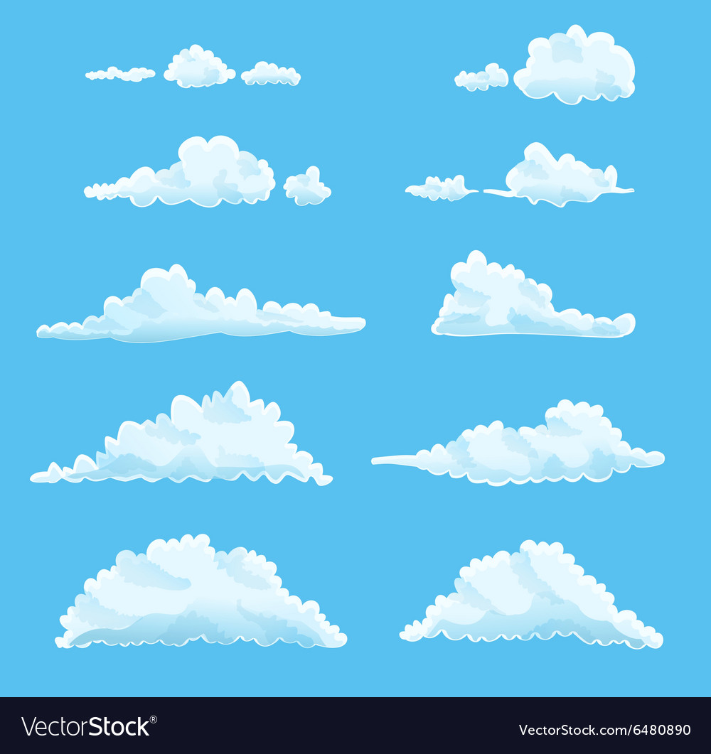 Set clouds vector