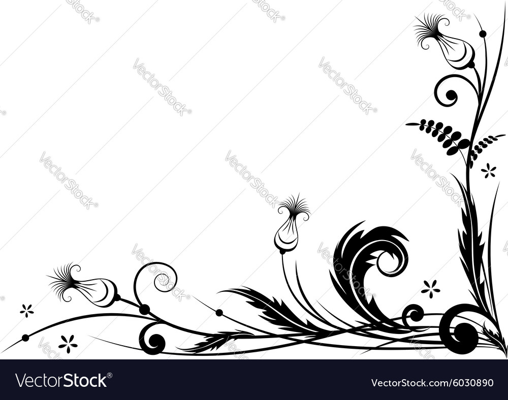 Stylized thistle vector