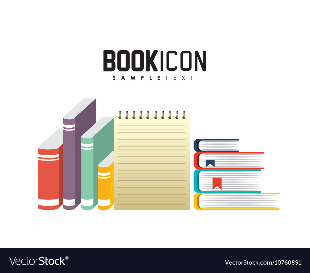 School supplies study icon vector