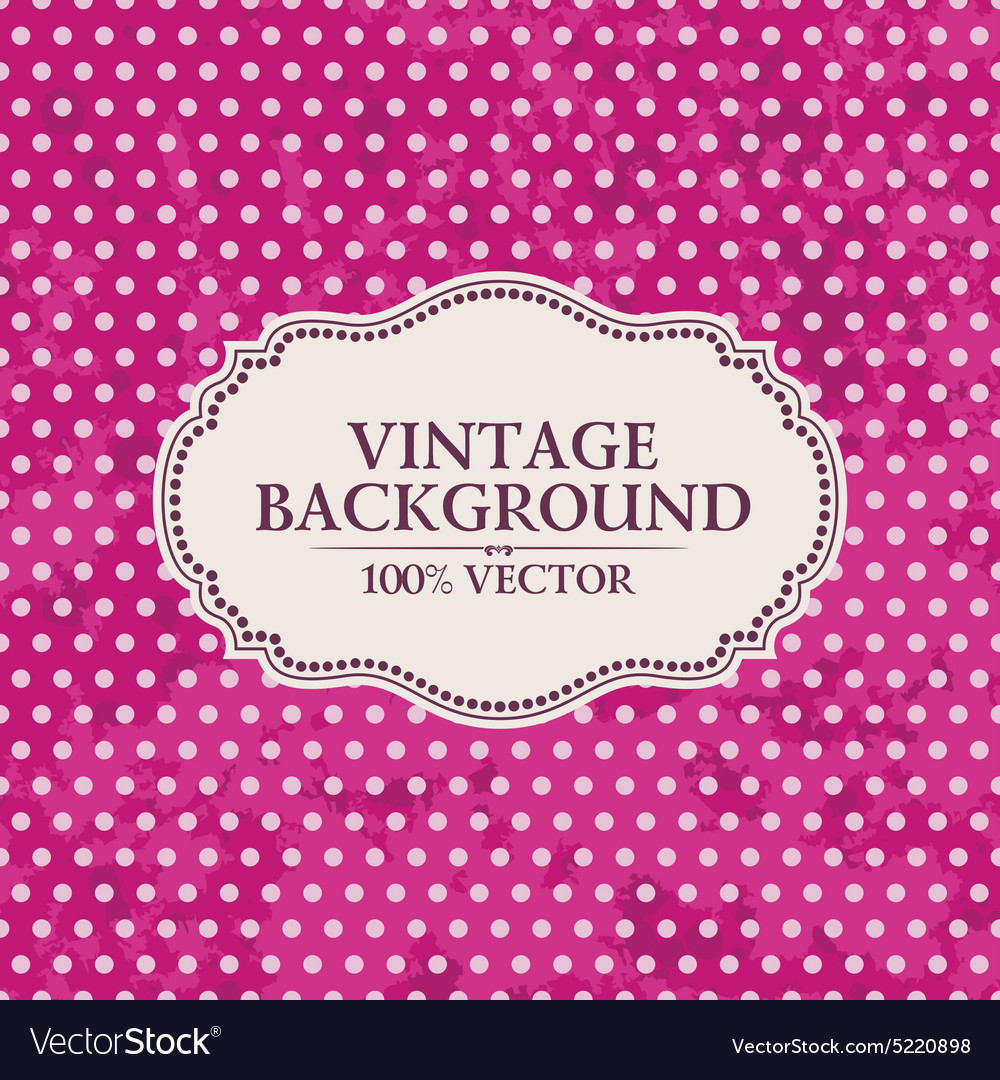 Frame on vintage background pink wallpaper with vector