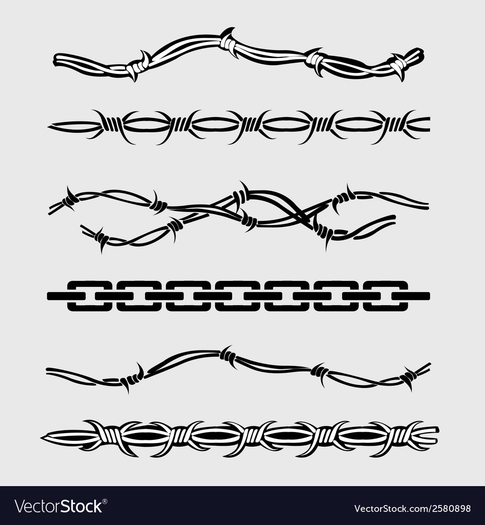 Revans barbed wire borderiron and steel vector