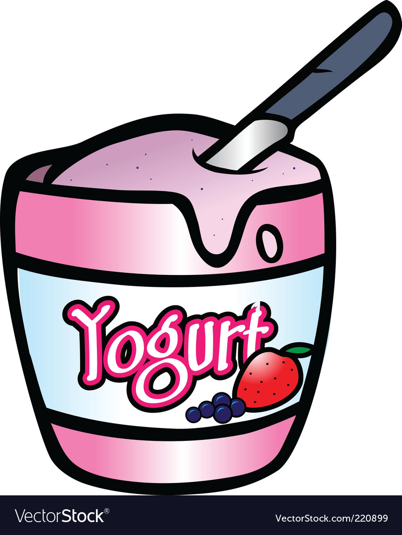 Yogurt vector