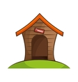 dog house isolated icon vector image