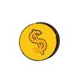 Coin money isolated vector image