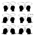 man icon with speech bubble set vector image vector image