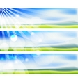 vector summer blurs banners vector image