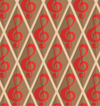 Retro fold red G clef vector image vector image