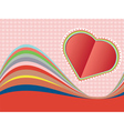 Decorative Paper Heart3 vector image vector image