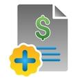 Medical Invoice Gradient Icon vector image