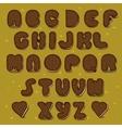 Chocolate Cookies Alphabet Vintage style vector image