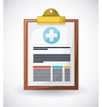 medical prescription design vector image
