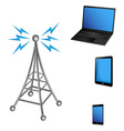 Communication antenna and electric device vector image