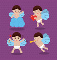 cupid love romantic lovely cute set vector image