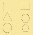 Geometric Wavy Frames vector image