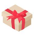 gift birthday icon isometric 3d style vector image