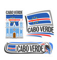 logo for cabo verde vector image