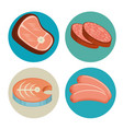 meat and fish set vector image