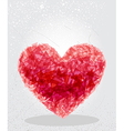 Red heart geometric shape vector image