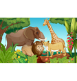 Animals in the jungle vector image vector image