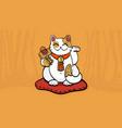 Maneki neko talisman cat beckoning wealth vector image