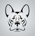 Little Dog Face Tribal vector image