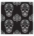 Skull and Spades Ornamental Pattern vector image