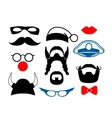 False mustache funny glasses and other items for vector image vector image