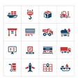 Set color icons of logistic vector image