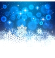 Blue Christmas background with space for text vector image