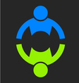 People Two Strong Logo vector image