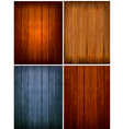 set of wood backgrounds vector image