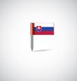slovakia flag pin vector image