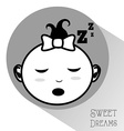 sweet dreams vector image