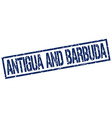 Antigua And Barbuda blue square stamp vector image