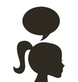 head human profile thinking vector image