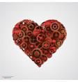 heart made of metal cogwheel vector image