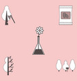 collection of icons and save nature vector image vector image